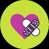 Icon: Herz mit Pflaster