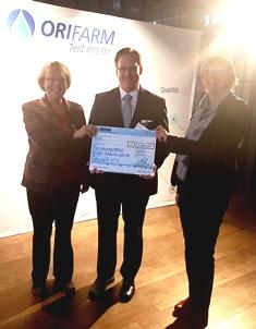 1000,- € Spende durch Aktion Teilkraft von Orifarm