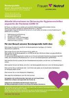 Aktuelle Informationen zur Sicherung der Hygienevorschriften