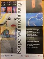 Ausstellungseröffnung  Körperwahrnehmung 03. Februar 2017, 17.00 Uhr Stadtbibliothek