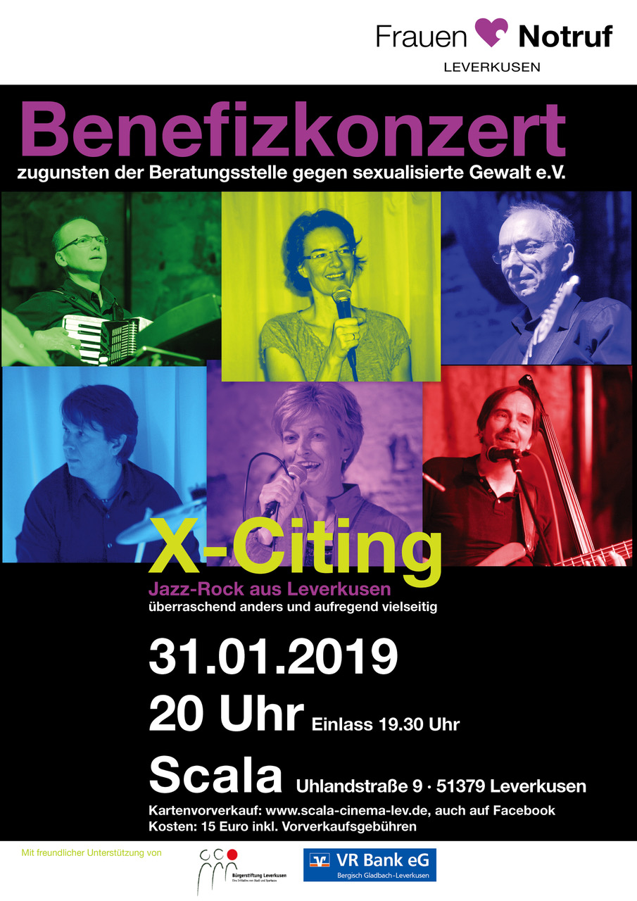 Benefizkonzert X-Citing am 31.01.2019