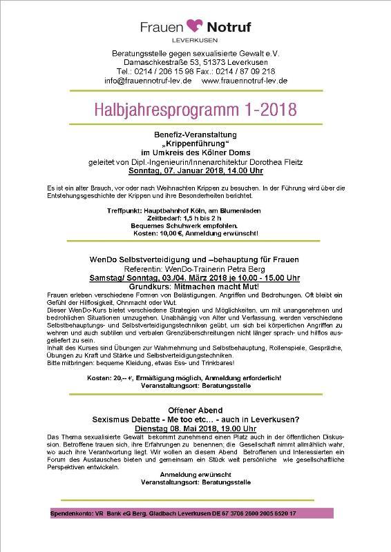 Halbjahresprogramm 1.2018