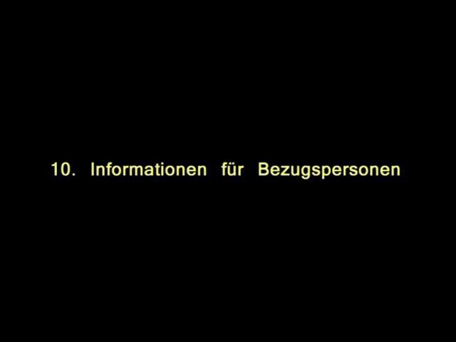 Vidoe: 10. Informatinen für Bezugsperson